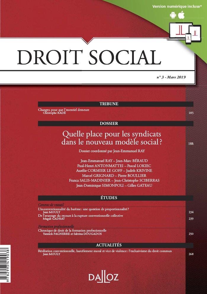 Vignette document Quelle place pour les syndicats dans le nouveau modèle social ? (dossier)
