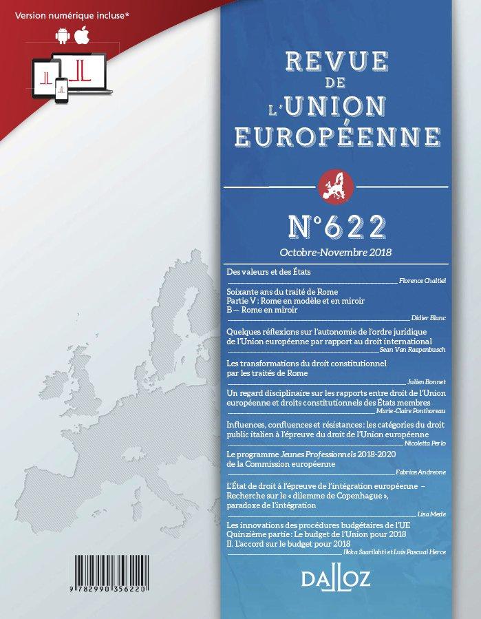 REVUE DE L'UNION EUROPEENNE